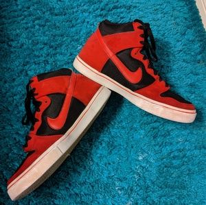 Red Nike shoes size 10